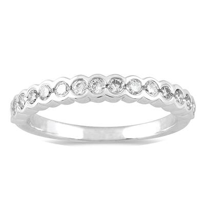 3/8 Carat Diamond Wedding Band in 14K White Gold