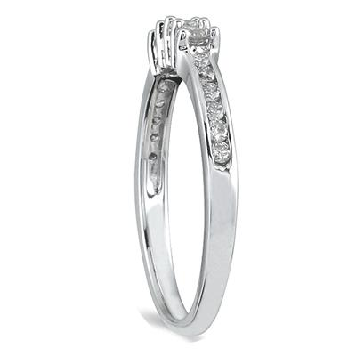 1/3 Carat TW Diamond Wedding Band in 10K White Gold