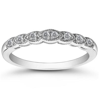 1/5 Carat Diamond Band in 10K White Gold