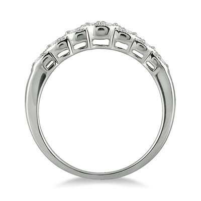1/5 Carat TW Diamond Band in 10K White Gold