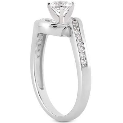 1/2 Carat Diamond Promise Ring in 10K White Gold