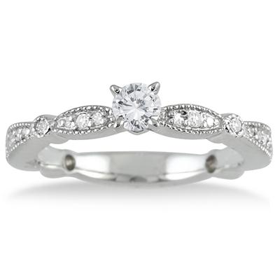 1/2 Carat Diamond Promise Ring in 10K White Gold