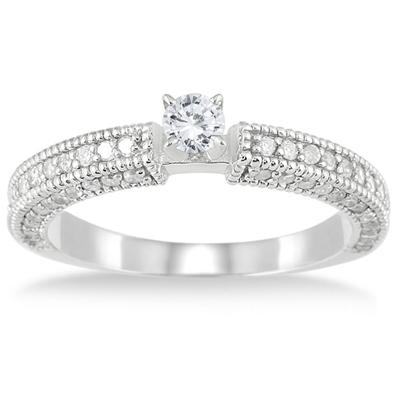 3/4 Carat Diamond Promise Ring in 10K White Gold