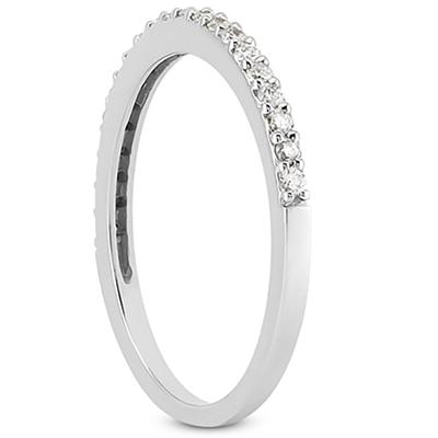 1/4 Carat T.W White Diamond Band in 10K White Gold