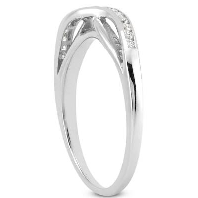 1/10 Carat T.W Diamond Band in 10k White Gold
