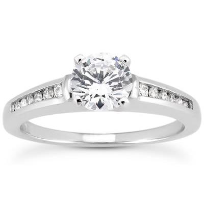 3/8 Carat T.W White Diamond Ring in 10k White Gold