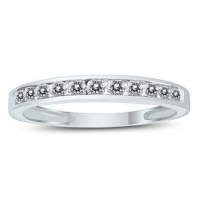 1/2 Carat Channel Set Diamond Band in 10K White Gold