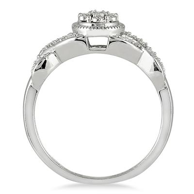 1/10 Carat Diamond Ring in 14K White Gold