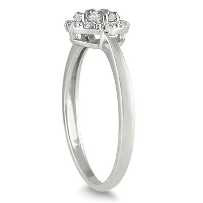 1/4 Carat T.W Diamond Ring in 10K White Gold