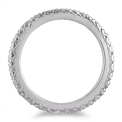 3/8 Carat Eternity Diamond Band in 14K White Gold