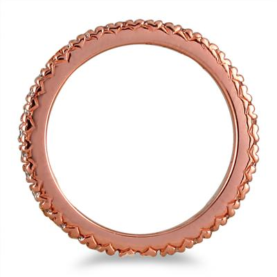 3/8 Carat Diamond Eternity Band in 14K Rose Gold