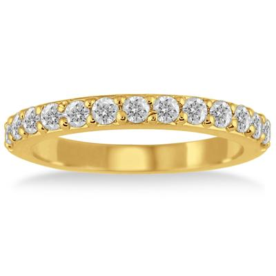 1/2 Carat Diamond Wedding Band in 14K Yellow Gold