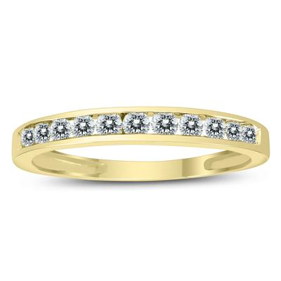 1/2 Carat TW Channel Set Diamond Band in 10K Yellow Gold