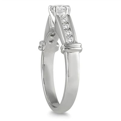 1/2 Carat TW Diamond Engagement Ring in 10K White Gold