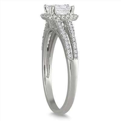 3/4 Carat Diamond Engagement Ring in 10K White Gold