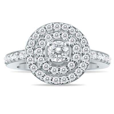 3/4 Carat TW Diamond Brilliance Ring in 10K White Gold