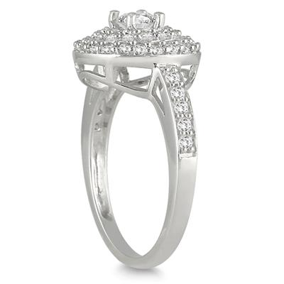 3/4 Carat Diamond Brilliance Ring in 10K White Gold