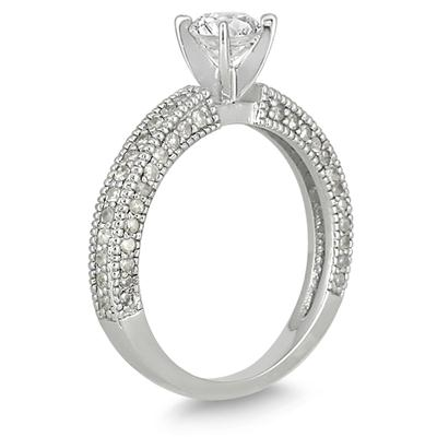 1 Carat TW Diamond Engagement Ring in 14K White Gold