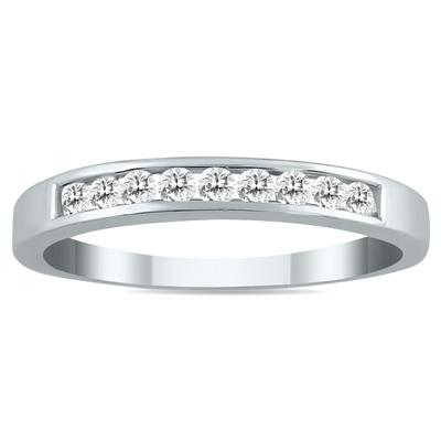 1/4 Carat TW Channel Set Diamond Band in 10K White Gold