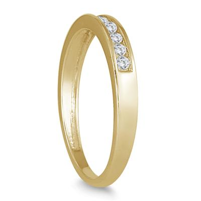 1/4 Carat Channel Set Diamond Band in 10K Yellow Gold