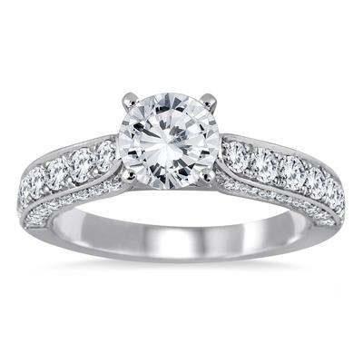 1 7/8 Carat TW Diamond Ring in 14K White Gold