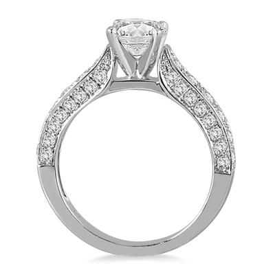 IGI Certified 1 7/8 Carat TW Diamond Ring in 14K White Gold (J-K Color, I2-I3 Clarity)