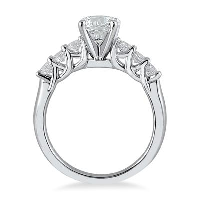 IGI Certified 1 2/5 Carat TW Seven Stone Engagement Ring in 14K White Gold (J-K Color, I2-I3 Clarity)