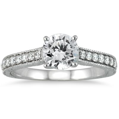 1 Carat TW Diamond Ring in 14K White Gold (J-K Color, I2-I3 Clarity)