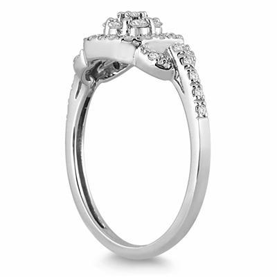 1/3 Carat TW Diamond Ring in 10K White Gold