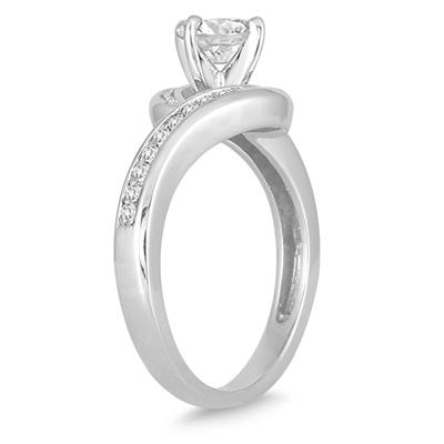 1 Carat Diamond Engagement Ring in 14K White Gold