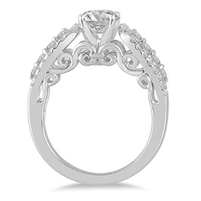 IGI Certified 1 1/2 Carat TW Diamond Engagement Ring in 14K White Gold (J-K Color, I2-I3 Clarity)