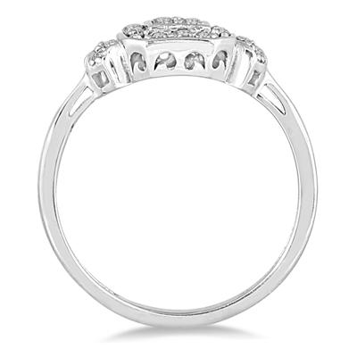 1/4 Carat TW Diamond Ring in 10K White Gold