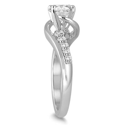 AGS Certified 1 1/3 Carat TW Diamond Engagement Ring in 14K White Gold (J-K Color, I2-I3 Clarity)