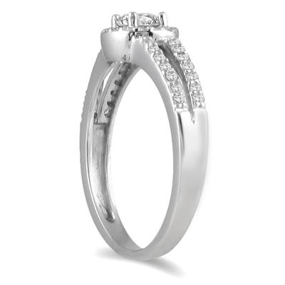 1/2 Carat TW Diamond Ring in 10K White Gold