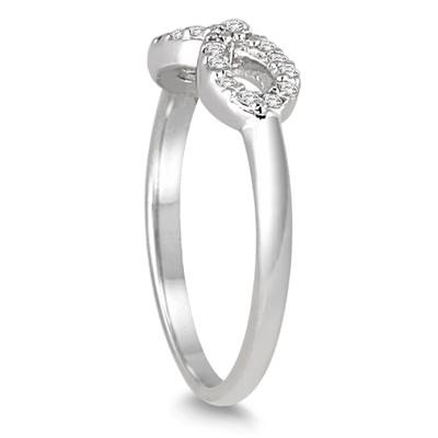 1/10 Carat TW Diamond Infinity Ring in 10K White Gold