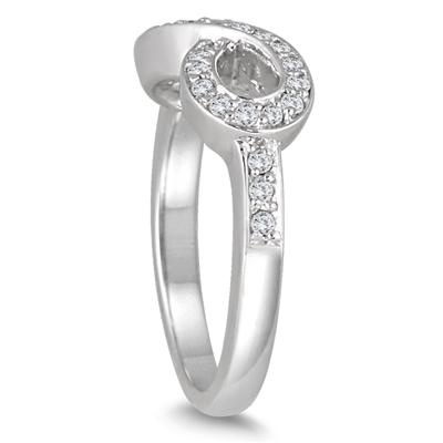 2/5 Carat Diamond Infinity Ring in 10K White Gold