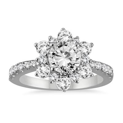 1 4/5 Carat TW Diamond Engagement Ring in 14K White Gold