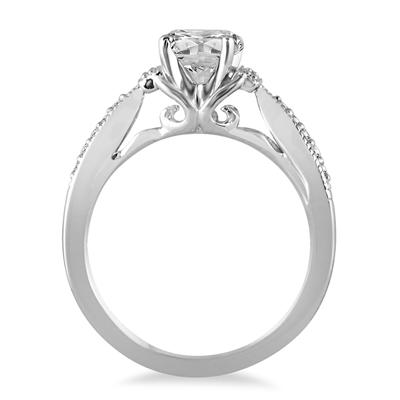 AGS Certified 1 1/10 Carat TW Diamond Engagement Ring in 14K White Gold (J-K Color, I2-I3 Clarity)