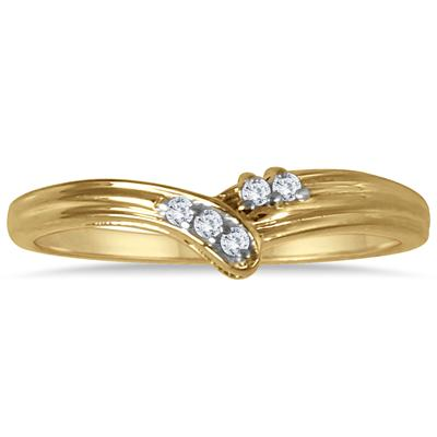 Diamond Fashion Ring in 18K Yellow Gold Plated Sterling Silver