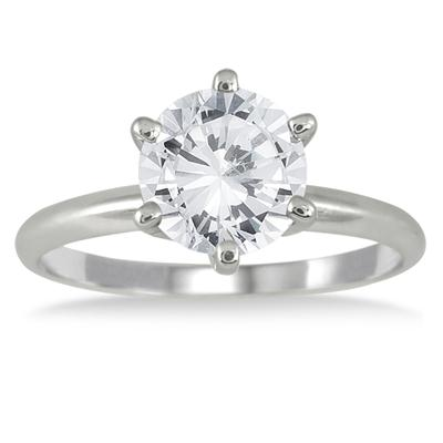 1.50 Carat Diamond Solitaire Ring in 14K White Gold