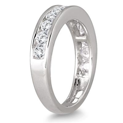 1.00 Carat Channel Set Diamond Band in 10K White Gold