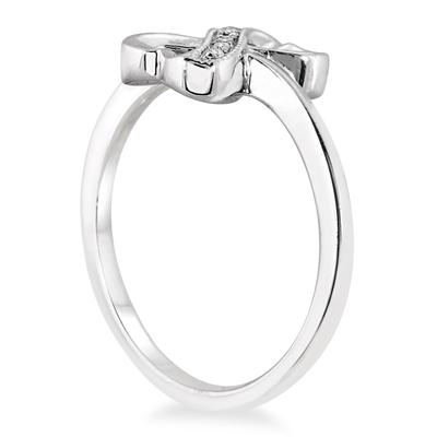 Diamond Infinity Ring in .925 Sterling Silver