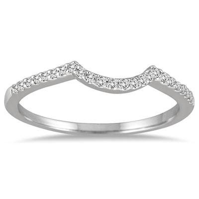 1/8 Carat Diamond Wedding Band in 14K White Gold
