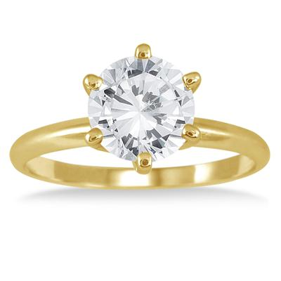 1.50 Carat Diamond Solitaire Ring in 14K Yellow Gold