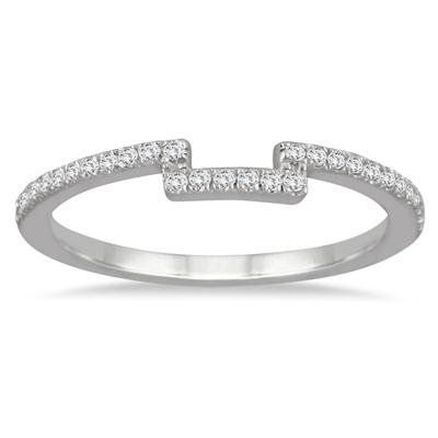 1/6 Carat Diamond Wedding Band in 14K White Gold