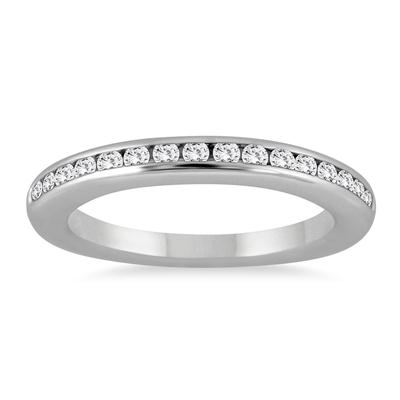 1/3 Carat Channel Set Diamond Band in 14K White Gold