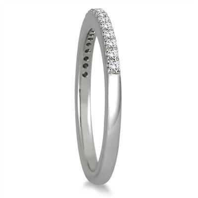 1/6 Carat Diamond Wedding Band in 14K White Gold