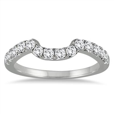 2/5 Carat Diamond Wedding Band in 14K White Gold