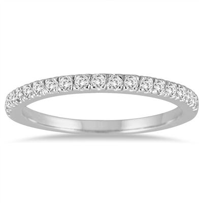 1/3 Carat TW Diamond Wedding Band in 14K White Gold