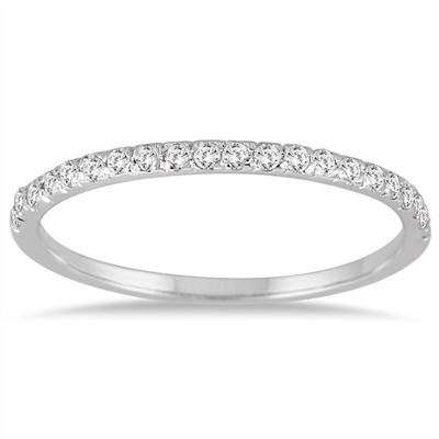 1/4 Carat Diamond Wedding Band in 14K White Gold